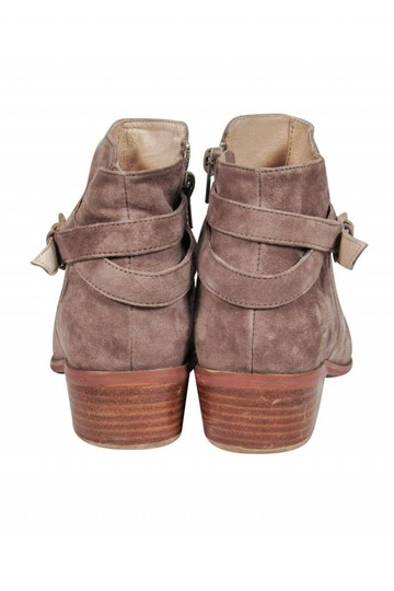 Barney's New York Taupe Suede Boots Image 3