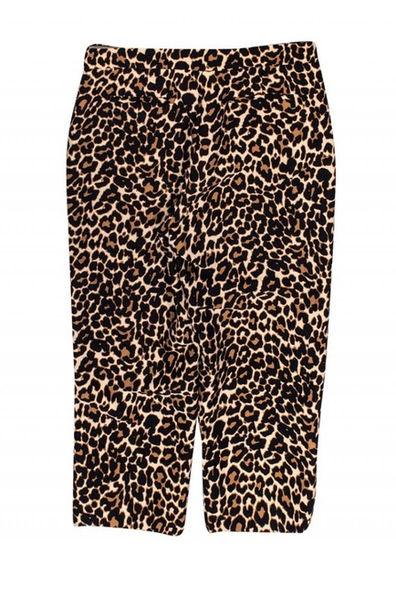 J. Crew Collection Casual Leopard Print Capri/Cropped Pants Image 1