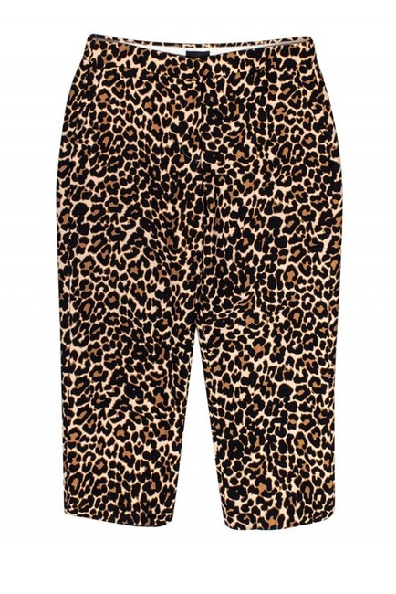 J. Crew Collection Casual Leopard Print Capri/Cropped Pants Image 2