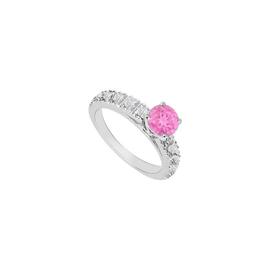 Preload https://img-static.tradesy.com/item/26116753/pink-created-sapphire-and-cubic-zirconia-engagement-ring-0-0-540-540.jpg