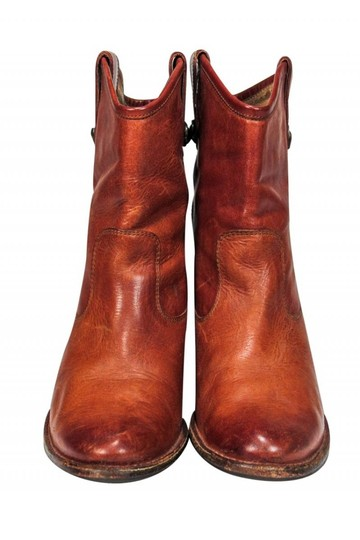 Frye Western Cognac Leather Tan Boots Image 1