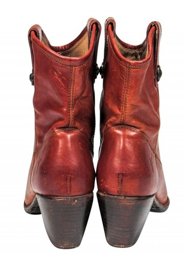 Frye Western Cognac Leather Tan Boots Image 3