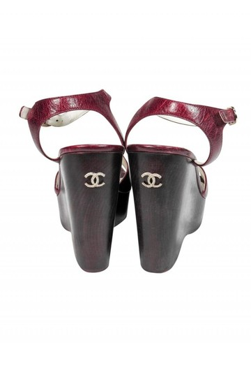 Chanel Anklestrap Anklewrap Leather Sandals Image 3