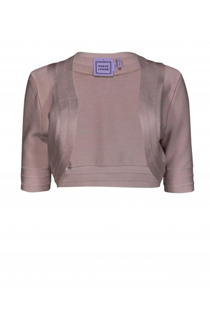 Herve Leger Jackets Blush Cropped Cardigan Image 0