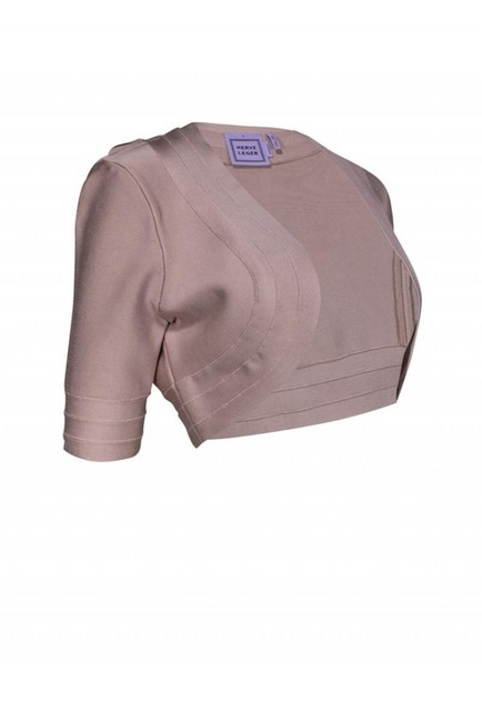 Herve Leger Jackets Blush Cropped Cardigan Image 1