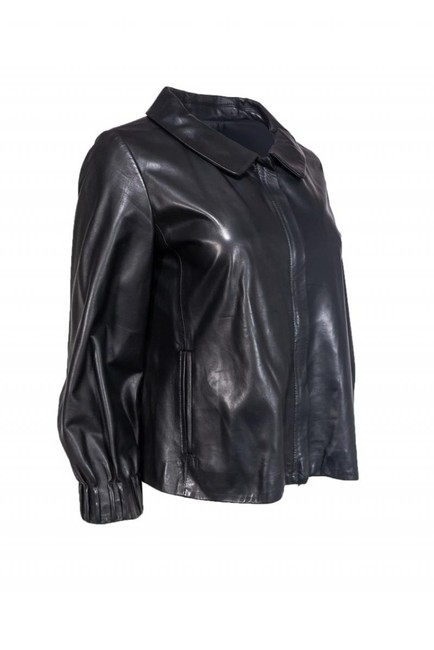 Theory Leather black Jacket Image 1