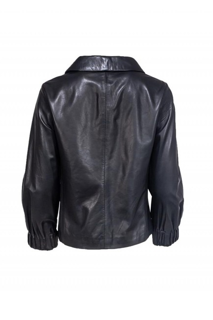 Theory Leather black Jacket Image 2