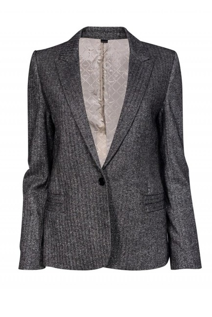 Preload https://img-static.tradesy.com/item/26116995/zadig-and-voltaire-silver-blazer-size-8-m-0-0-650-650.jpg