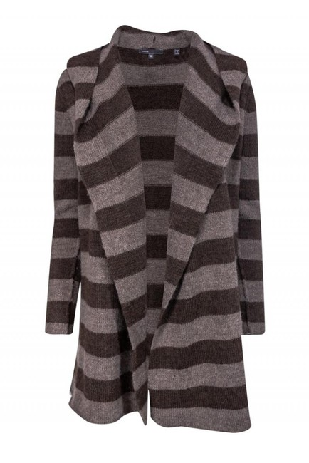 Vince Jackets Striped Wool Alpaca Cardigan Image 0