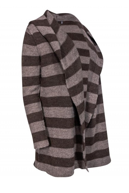 Vince Jackets Striped Wool Alpaca Cardigan Image 1