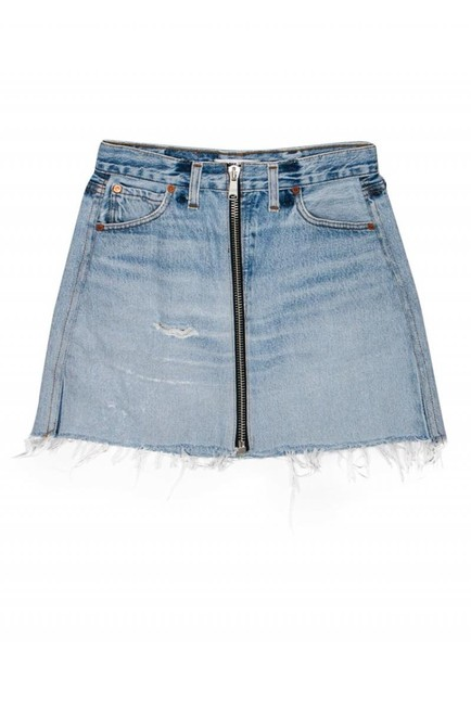 Levi's Redone Light Wash Denim Skirt blue Image 2