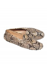 Tod's Loafers Grey Beige Snakeskin Pumps