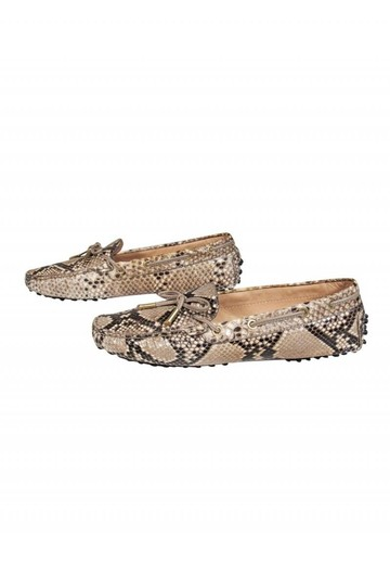 Tod's Loafers Grey Beige Snakeskin Pumps Image 2