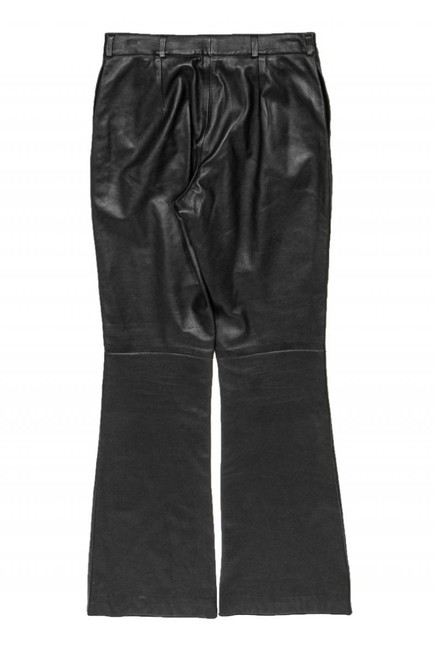 Burberry Casual Leather Straight Pants black Image 1