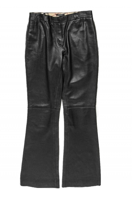 Burberry Casual Leather Straight Pants black Image 2