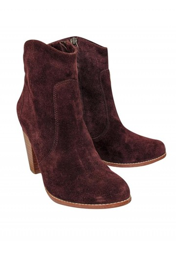 Joie Burgundy Suede Boots Image 0