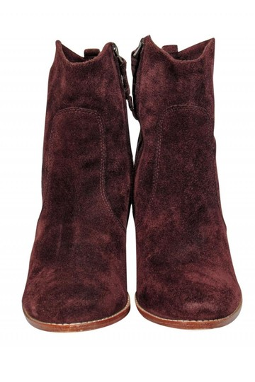Joie Burgundy Suede Boots Image 1