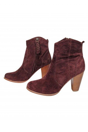 Joie Burgundy Suede Boots Image 2