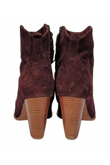Joie Burgundy Suede Boots Image 3