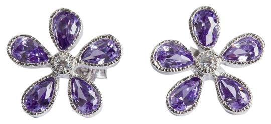 Preload https://img-static.tradesy.com/item/26117117/silver-colored-cubic-zirconia-flower-earrings-0-1-540-540.jpg