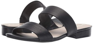 Kenneth Cole Flat Leather Open Toe Black Sandals