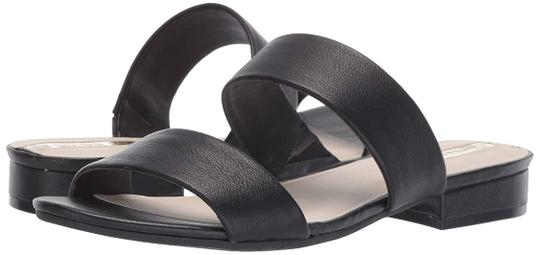 Kenneth Cole Flat Leather Open Toe Black Sandals Image 0