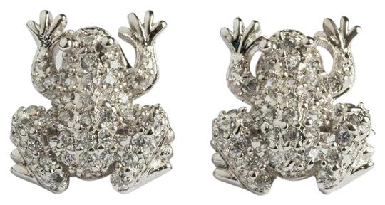 sterling silver Sterling Silver Cubic Zirconia Frog Earrings Image 0