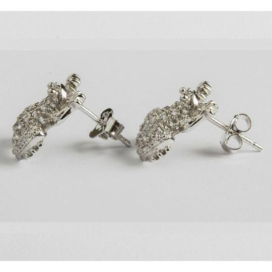 sterling silver Sterling Silver Cubic Zirconia Frog Earrings Image 1