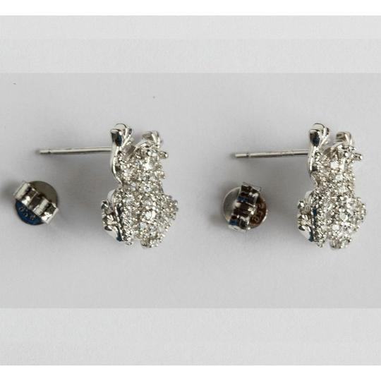 sterling silver Sterling Silver Cubic Zirconia Frog Earrings Image 3