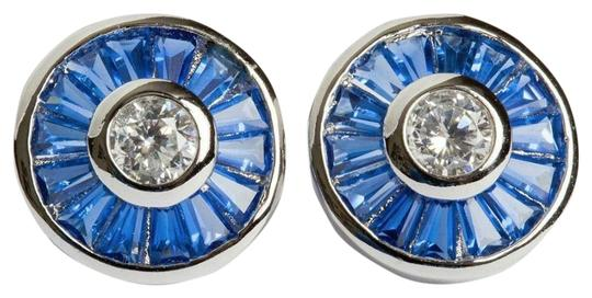 Preload https://img-static.tradesy.com/item/26117206/silver-blue-baquette-and-clear-cubic-zirconia-earrings-0-1-540-540.jpg