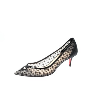 Christian Louboutin Pointed Toe Black Pumps