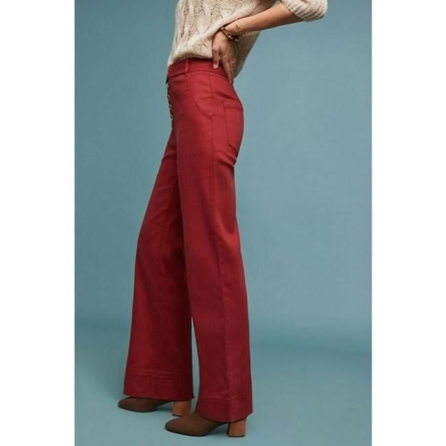 Anthropologie Wide Leg Pants Red Image 1