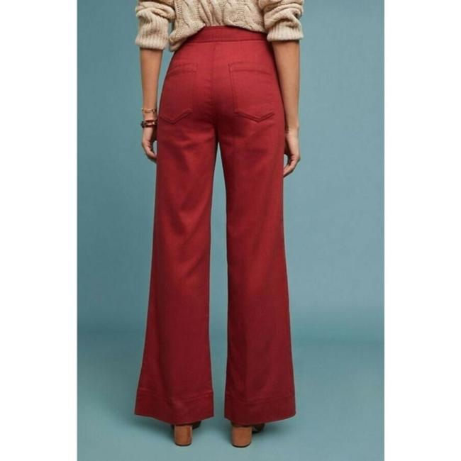 Anthropologie Wide Leg Pants Red Image 2