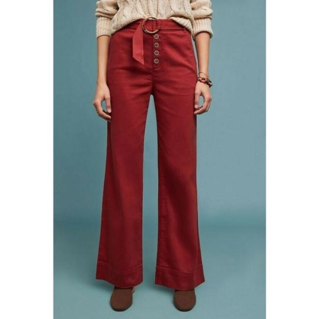 Anthropologie Wide Leg Pants Red Image 3