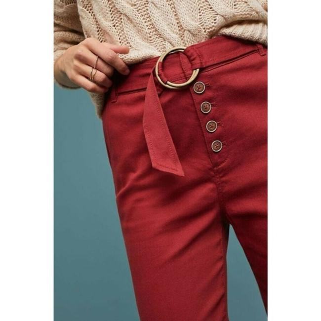 Anthropologie Wide Leg Pants Red Image 4