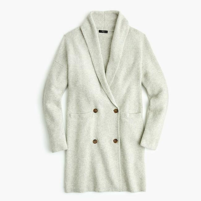 J. CREW Cardigan Coat Soft Sweatshirt Image 3