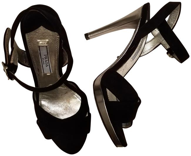 Item - Black Suede Leather Open Toe High Sandals Size EU 35.5 (Approx. US 5.5) Regular (M, B)