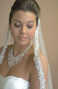 Ansonia Bridal Dramatic Icicle Rhinestone Wedding Jewelry Set