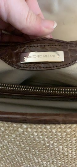 Antonio Melani Straw Leather Beach Fall Shoulder Bag Image 1