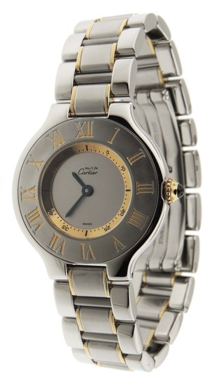 Preload https://img-static.tradesy.com/item/26117987/cartier-silver-ladies-must-21-1340-18k-yellow-gold-and-ss-28mm-watch-0-0-540-540.jpg