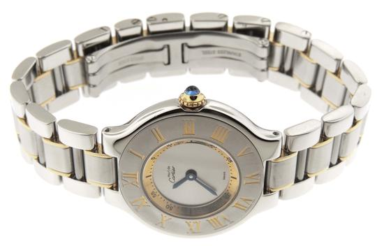 Cartier Ladies Cartier Must 21 1340 18K Yellow Gold & SS 28mm Watch Image 7