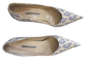 Manolo Blahnik Summer Leopard Blue and Purple Pumps