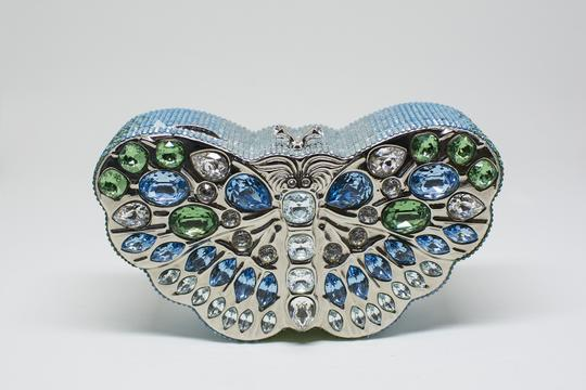Judith Leiber Butterfly Novelty Couture New York Multi-Color Clutch Image 1