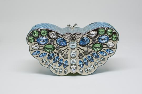 Judith Leiber Butterfly Novelty Couture New York Multi-Color Clutch Image 2