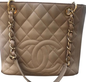 Chanel Leather Chic Tote in Beige