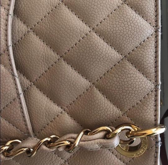 Chanel Leather Chic Tote in Beige Image 3