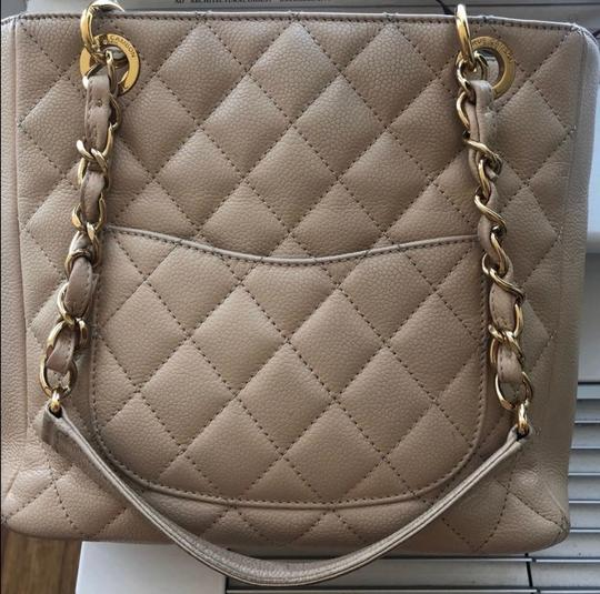 Chanel Leather Chic Tote in Beige Image 4