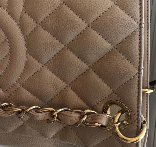 Chanel Leather Chic Tote in Beige Image 5