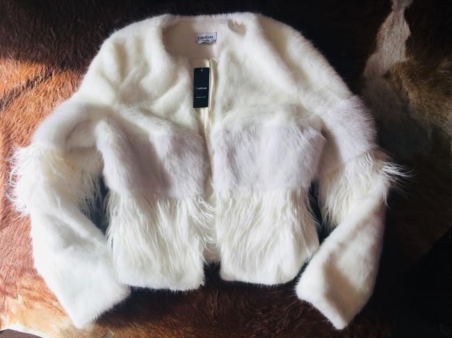bebe Faux Two-tone Chic Fur Coat Image 1