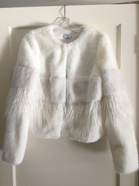 bebe Faux Two-tone Chic Fur Coat Image 2